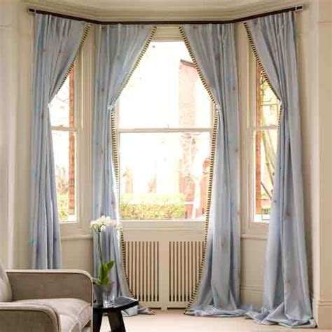 how to hang bay window curtain rods best 25 bay window curtains ideas on bay