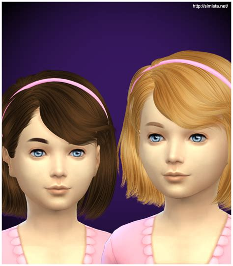 the sims 4 hair kids simista ela 4g hairstyle retextured sims 4 hairs http