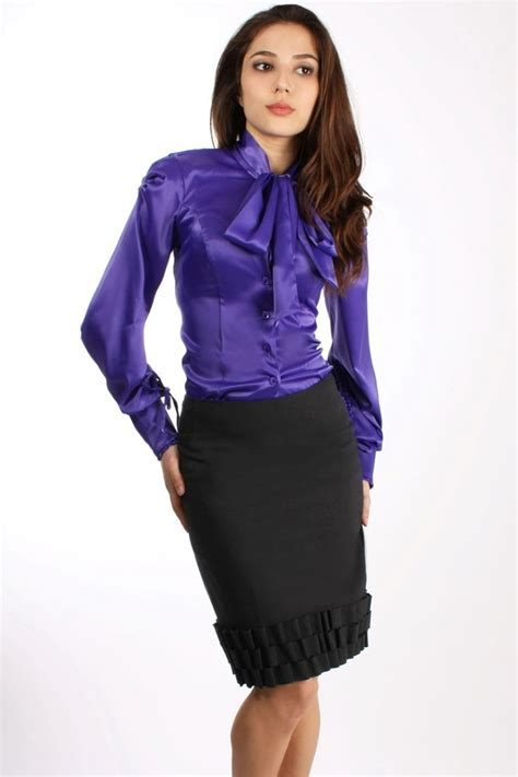 Blouse Katun C Bow 977 best satin blouse and pencil skirt images on satin blouses blouses and