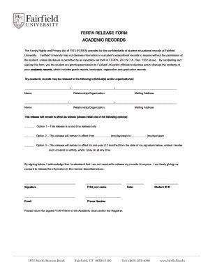 Fairfield Academic Calendar Fax Form 34191 Fill Printable Fillable Blank