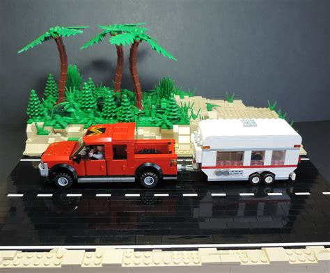 lego boat and trailer instructions lego truck and trailer pickup truck with trailer pinteres
