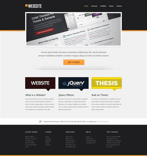 free homepage for website design website template psd themedy