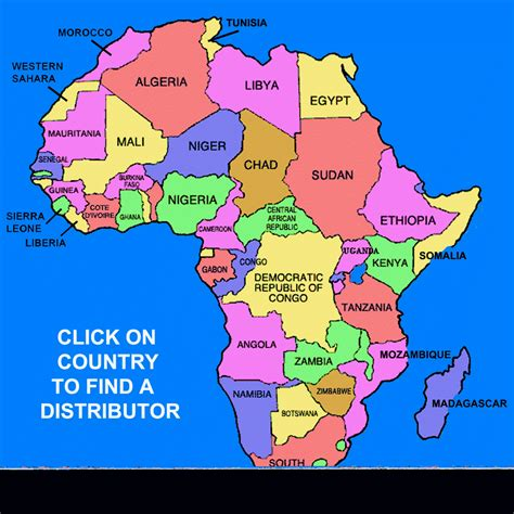 africa map of countries countries in africa map
