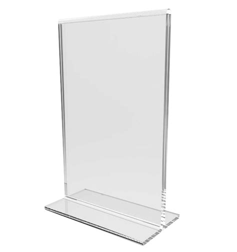 clear acrylic table tent frame photo sign menu holder