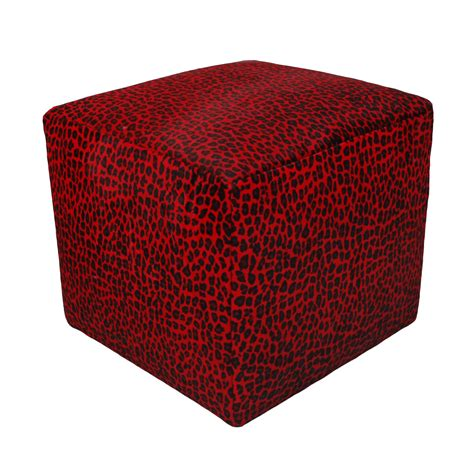 Cube Cowhide Ottoman Rentals Event Furniture Rental Cowhide Cube Ottoman