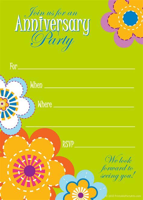 Wedding Anniversary Invitation Template Free Anniversary Invitation Template