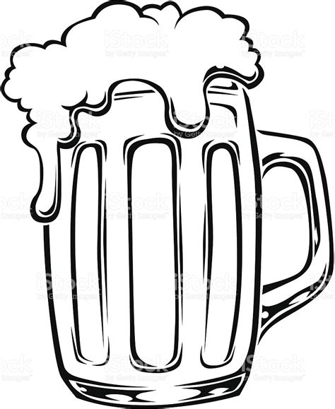 beer cartoon black and white beer glass stock vector art more images of alcohol