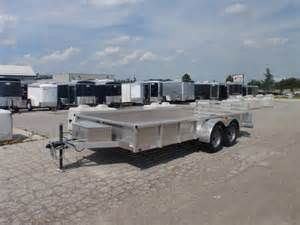 used 2010 7 x 16 all aluminum landscape trailer for sale