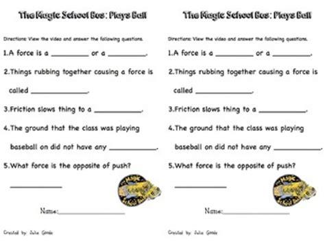 Magic School All Worksheet by Friction Magic School Lesson
