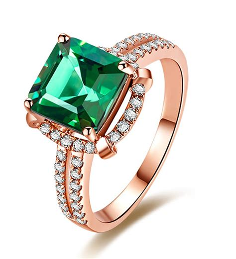 halo 1 50 carat princess cut emerald and