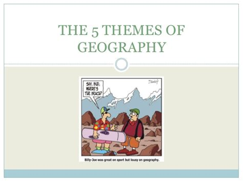 are the five themes of geography useful the five themes of geography