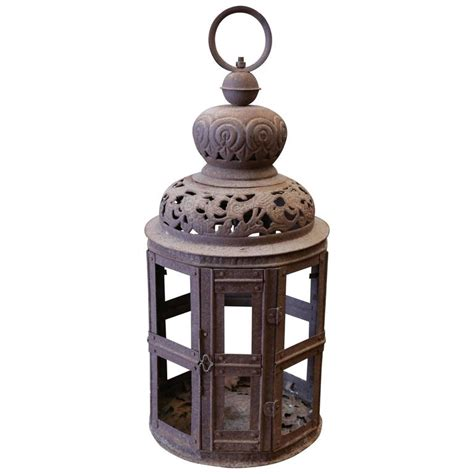 decorative pierced metal lantern for sale at 1stdibs