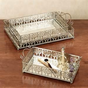 Vanity Set Tray Silver Vanity Tray