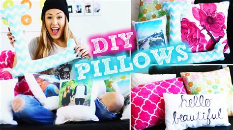 How To Decorate My Bedroom diy tumblr inspired pillows to decorate your room
