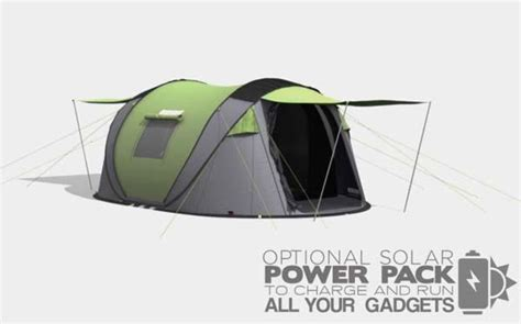 solar tent lights cinch pop up tent with solar power and led lights gadgetsin