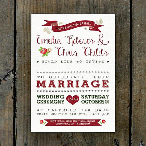 Wedding Invitations Country by Vintage Country Wedding Invitation By Feel Wedding