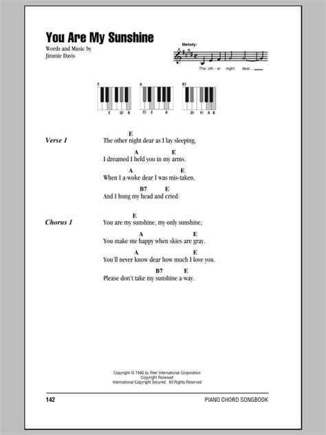 my lyrics with piano chords you are my sheet by jimmie davis lyrics