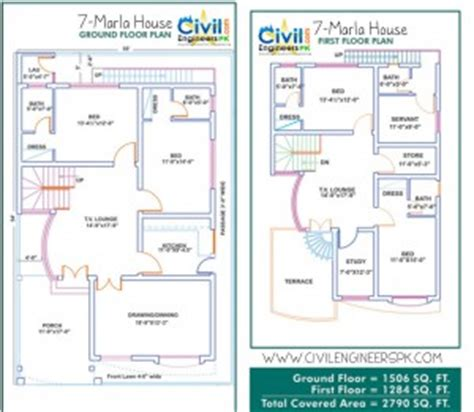 3d home design 7 marla 7 marla house plans civil engineers pk