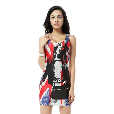 8 Everyday Dresses For Any by Mwbay Sleeveless Tank Dress Digital Print