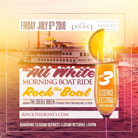 rock the boat white party rock the boat pt 3 the 2018 all white morning boat ride