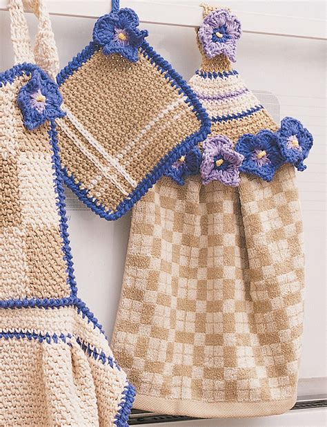 bernat towel topper pot holder crochet pattern