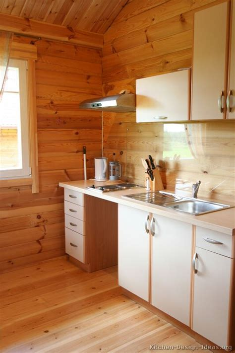 how can i modernize my knotty pine paneled kitchen