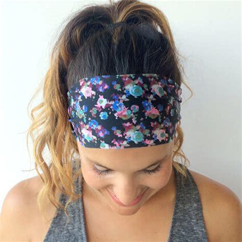 Bandana Headband Bando Murah 1pc 2016 sweet print floral flower wide headband bandanas headwar hair band