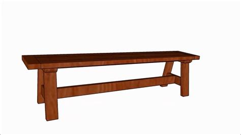 rustic bench plans rustic bench seat plans youtube