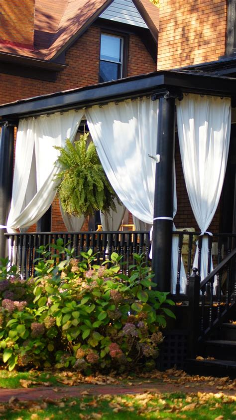 burlap outdoor curtains 25 best ideas about porch privacy on pinterest privacy