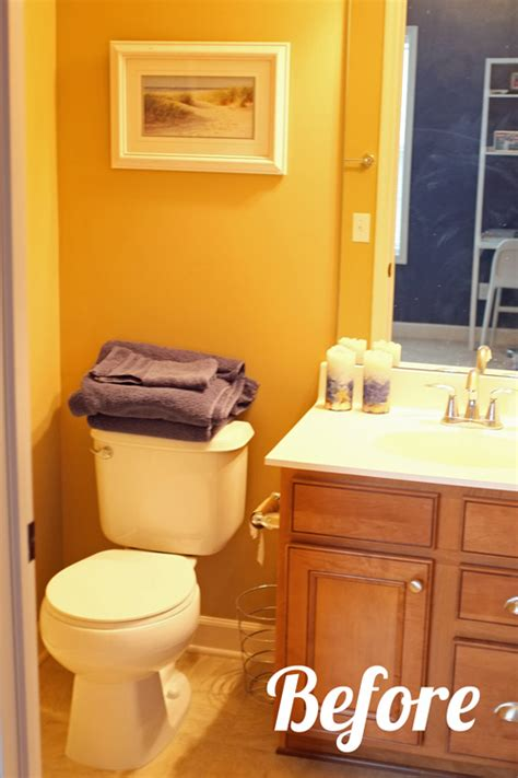 guest bathroom paint makeover teal and lime by jackie hernandez