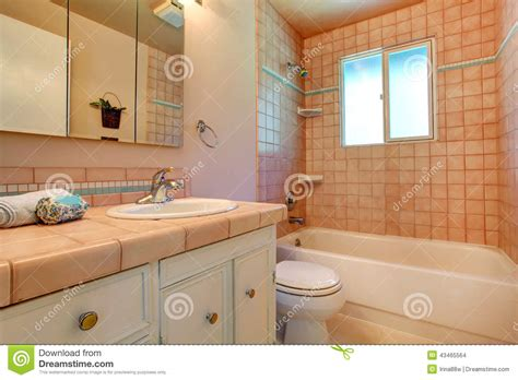 Warm Bathroom Colors by Bathroom In Warm Colors With A Toilet A Bathtub A