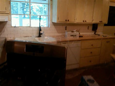 best grout for kitchen backsplash our old quot green quot house weekend diy backsplash phase 1