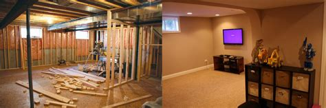 befor and after basement remodeling basement