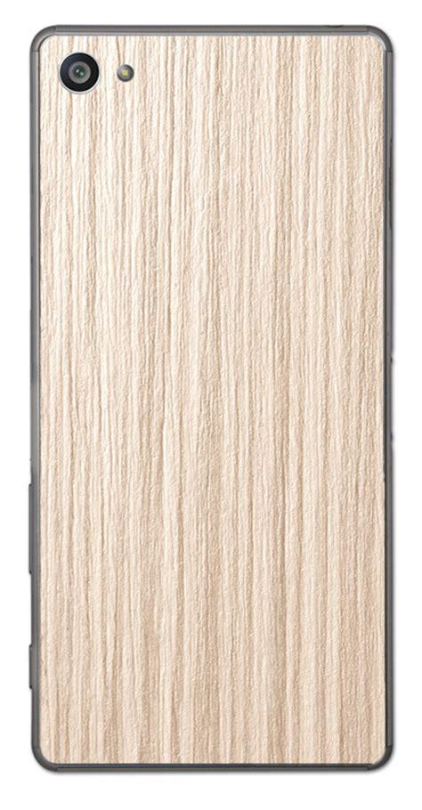 sony xperia z5 compact 3d aufkleber sticker f 252 r r 252 ckseite 3d holz beige