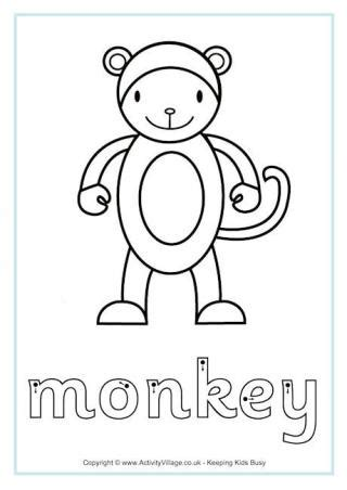 finger monkey coloring pages monkey maths facts colouring page