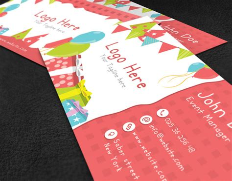 Kids Party Business Card Business Card Templates On Creative Market Kid Business Card Template