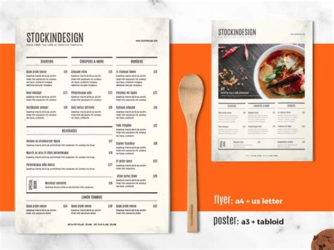 layout menu indesign food menu template adobe indesign templates for restaurants
