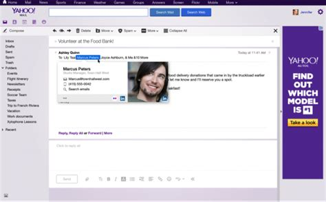 yahoo email upgrade 2015 yahoo mail contact cards now connect to linkedin twitter