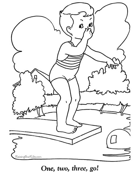 summer coloring pictures for kid