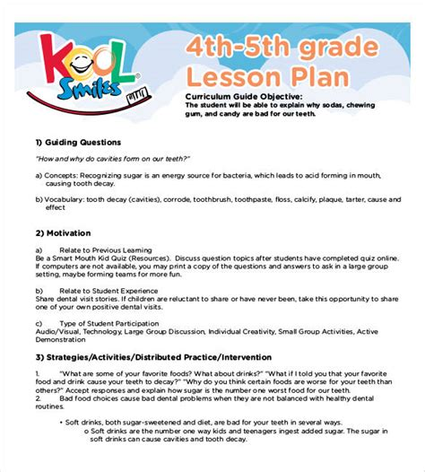 5th grade lesson plan template lesson plan template 60 free word excel pdf format