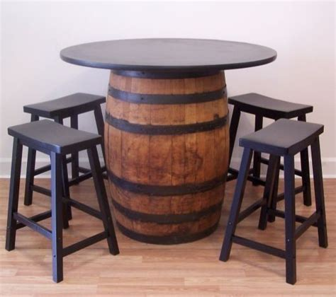 barrel table whiskey barrel table 42 quot tabletop 4 24