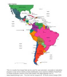 printable map of central america and south america