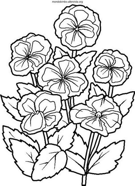 disegni da colorare dei fiori fiori da colorare mondo bimbo