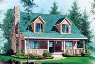 Dormered Roof Capecod House Plan Chp 16146 At Coolhouseplans Com