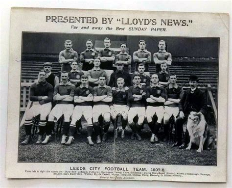 Postcard Squads leeds city fc postcard 1907 8 national football collection