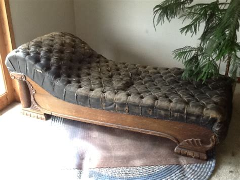 leather fainting couch hometalk reviving and antique fainting couch