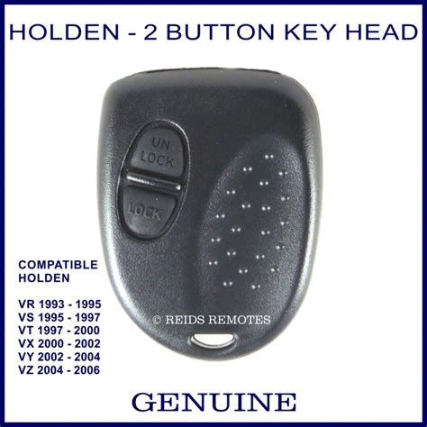 holden key buttons holden commodore vr vz 2 button genuine remote key only