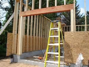 Garage Door Framing How To Frame A Garage Door Header Wageuzi