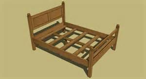 Wood Bed Frame Plan Tornado Bed 111412color Png