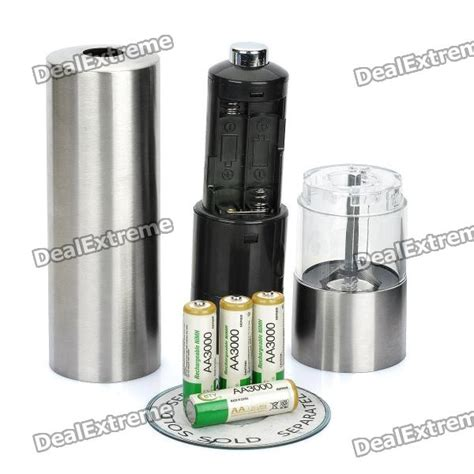 Pepper Muller electric pepper muller grinder silver 4 x aa free shipping dealextreme